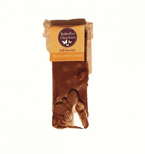Handmade Yorkshire Honeycomb milk chocolate small butterfly bar