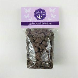 Dark chocolate buttons