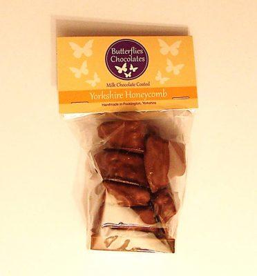 Bag of chocolate coated Yorkshire Honeycomb