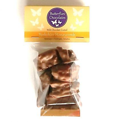Milk chocolate coated honeycomb